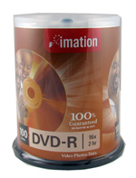 Imation DVD-r 16X blank white